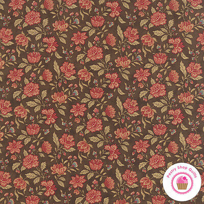 Moda COURTYARD Stone Brown Floral 44124 20 3 Sisters QUILT FABRIC