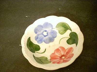 Heritage Ware By Stetson Fruit/ Berry Bowl Hand Painted Underglaze Floral(Xk)