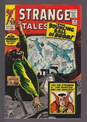 Strange Tales # 131  The Bouncing Ball of Doom !  grade 8.0 scarce book !