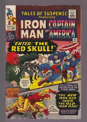 Tales of Suspense # 65  Enter : The Red Skull !  grade 7.5 scarce book !