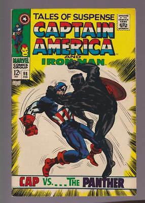 Tales of Suspense # 98  Cap vs...the Panther !  grade 7.5 scarce book !