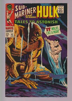 Tales to Astonish # 92  It Walks Like a Man ; Surfer !  grade 8.0 scarce book !