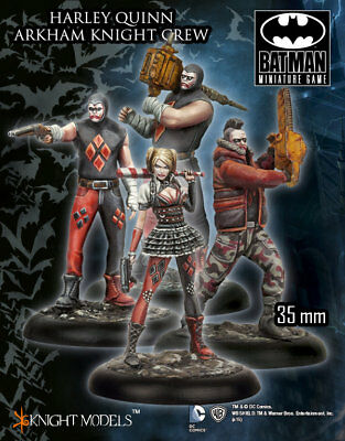 Knight Models Batman Miniature Game Harley Quinn Arkham Knight Crew