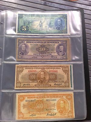 Coleccion de Billetes de Venezuela 1956 - 2016 Bank Note Venezuela Bolivares lot