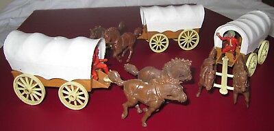 Crescent Toys Wild West Covered Wagons
