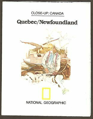 National Geographic Map - May 1980 - Close-Up Canada Quebec & Newfoundland