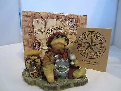 BOYDS THE WEE FOLKSTONES...RIBBIT & CO Frog Figurine, THE WINE TASTER ~ 1E