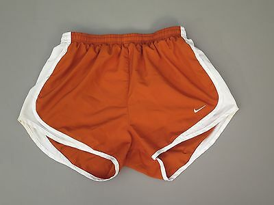 Womens Nike Dri Fit Tempo Running Shorts Size Medium Rusty Orange Brown Texas