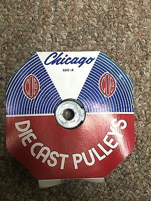 """Chicago Die Cast Single V Grooved Pulley A Belt w 6"""" Dia X 1/2"""" Bore"""