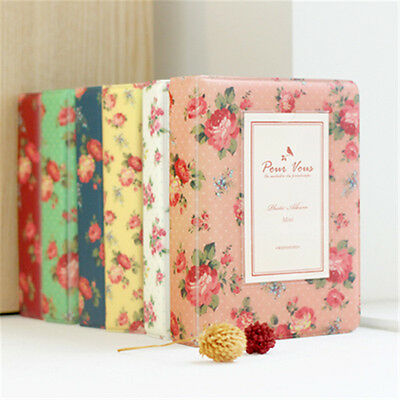 64 pocket Photo Slip-In Album Floral for Polaroid Fuji Instax mini7s 8 25 50 90