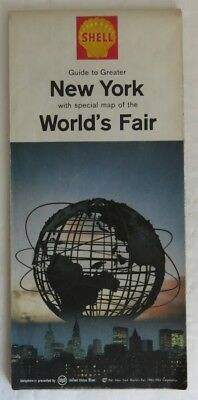 1964 Shell New York And World's Fair Road Map            (Inv14736)