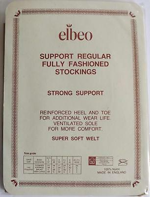 Vintage ELBEO Strong Support Fully Fashioned Seamed Stockings HAZEL Med