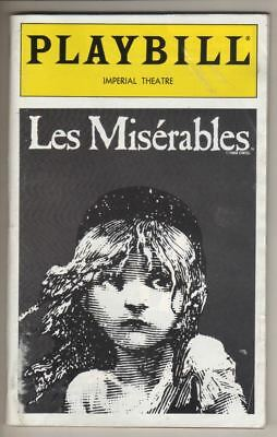 "Hunter Foster  ""Les Miserables""  Playbill  1998    Sarah Uriarte Berry"