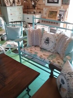 antique settee with matching chair