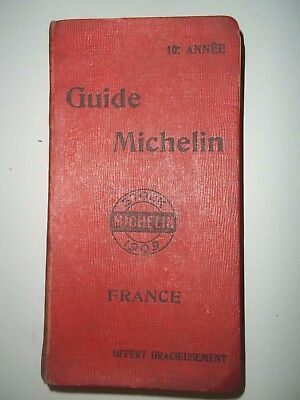 ancien guide rouge michelin de 1909