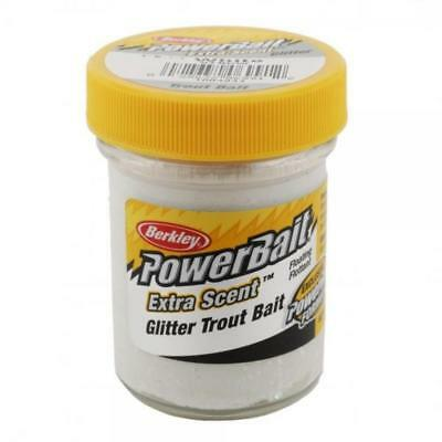 BERKLEY Pasta Powerbait Glitter Trout Bait bianco