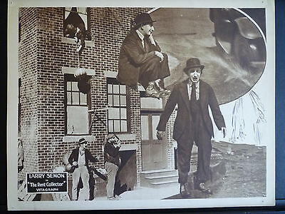 1921 The Rent Collector - Exc Con Lobby Card - Silent Comedy Short - Larry Semon