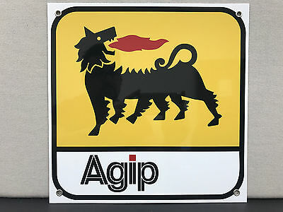 Agip  advertising garage sign baked oil gas ferrari