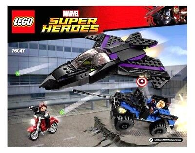 *LEGO INSTRUCTIONS* Marvel Super Heroes BLACK PANTHER PURSUIT 76047 Manual Only