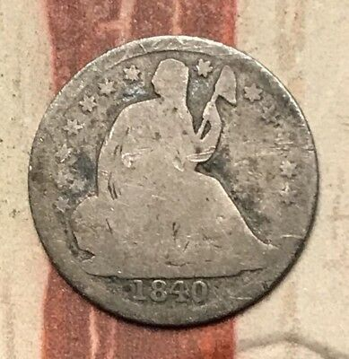 1840 5C Seated Liberty Half Dime 90% Silver Vintage US Coin #FD23