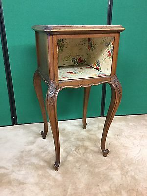 Antique French Bedside Cabinet With Marble Top