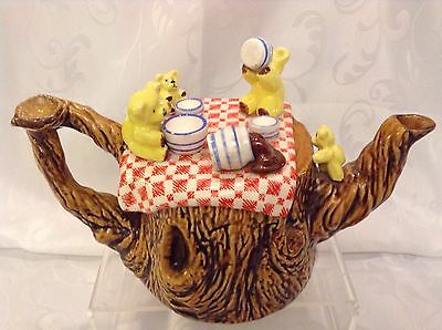 Cardew Sunshine Ceramics Collectable Novelty Large Teapot Original Teddy Picnic