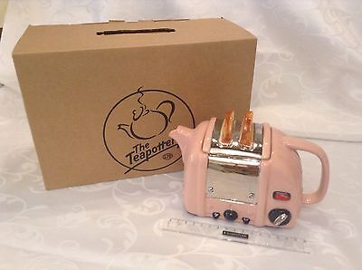 Teapottery Swineside Novelty New Teapot Pink Retro Toaster Boxed Mint Condition