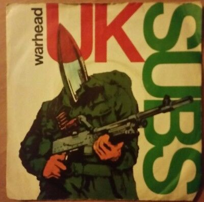 "Uk Subs - Warhead 7"" Uk 1980 3 Track Ep Orig Press Vg+/vg Pistols Punk Buzzcocks"