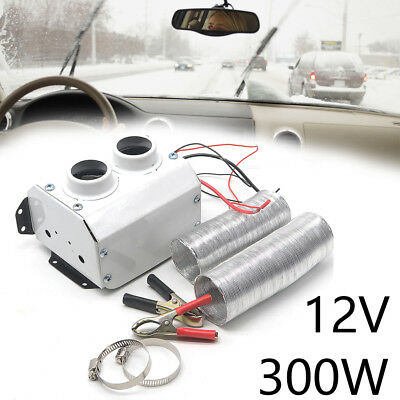12V 300W Double Hole Car Warmer Heater Thermostat Fan Defroster Demister UK