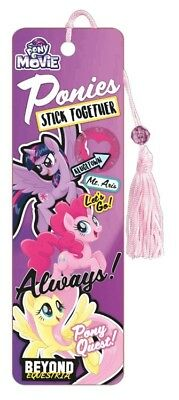My Little Pony Movie - Bookmark - Brand New - Book Reading Gift 6440