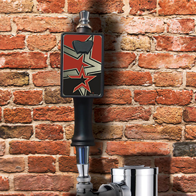 Houston Astros beer tap handle with removable bottle opener