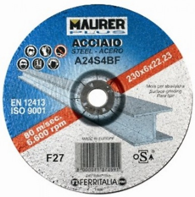 Set 25 Disco Maurer For Iron 300X3 Mm Hole 30 Manual Tools
