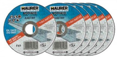 Set 4 Disco Maurer For Iron Mm 115X1,6 5 + 1 Manual Tools
