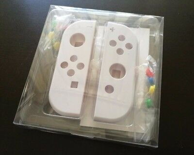 Nintendo Switch Joy-Con (L/R) Replacement Shells White with Colored Buttons