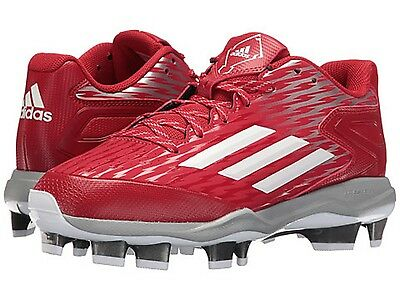 ADIDAS C77531 POWER ALLEY 3TPU Wmn's (M) Red/White Synthetic Baseball Cleats
