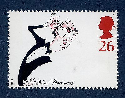 Eric Morecambe Illustrated by Gerald Scarfe on 1998 Stamp - U/M