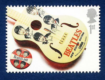 """The Beatles Guitar"" illustrated on 2007 stamp - Unmounted mint"