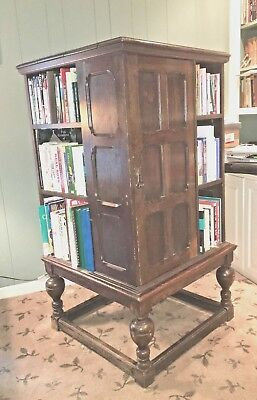 Liberty & Company 19TH C OAK REVOLVING  ROTATING BOOKCASE - Arts and Crafts