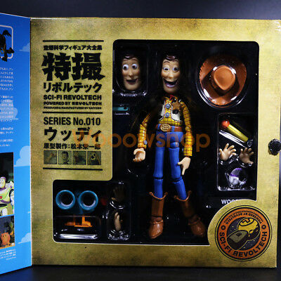 "Toy Story Woody Sci-fi Revoltech Series 010 6"" Action Figure Disney Kaiyodo New"