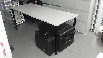 Office Furniture Desk Grey with Black Legs
