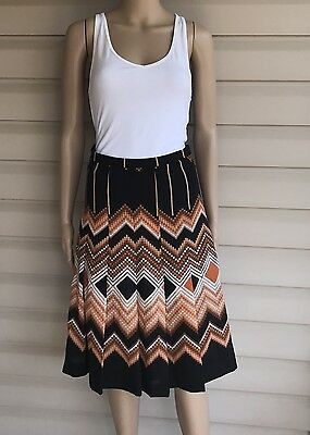 Ladies Skirt Pleated Size Small 70's A Line Vintage Peasant  Fall Back To School