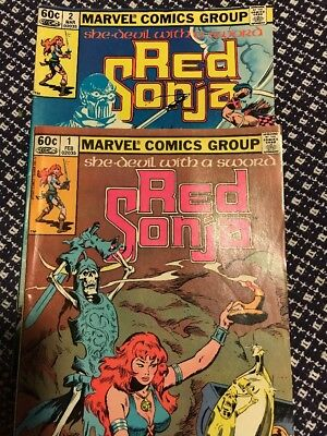 2 Vintage Red Sonja & 7 Daredevil Comic Book Lot