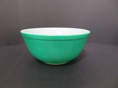 Vintage Pyrex Nesting Mixing Bowl #403 Primary Color Green 2-1/2 Quart