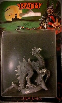 RAFM #3501 SMALL COLD DRAKE Fantasy Miniature 25mm metal RAL PARTHA RPG NIP