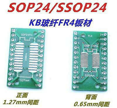 10pcs Adapter Converter  SOP24 SSOP24 TSSOP24 SOP TO DIP 0.65/1.27mm#SE310-2