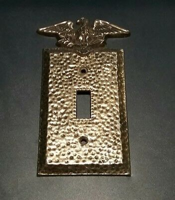Vintage Single Light Switch Plate Cover EAGLE Vintage Cast Metal Brass