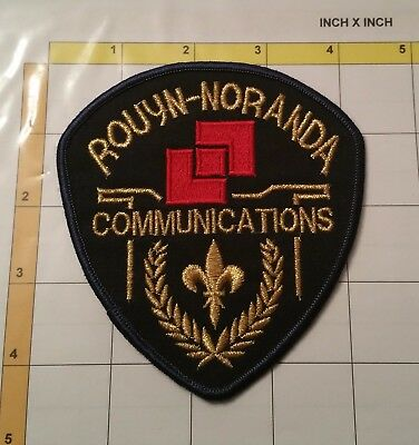Canada Qc Rouyn-Noranda Communication Emergency Dept Officer Patch