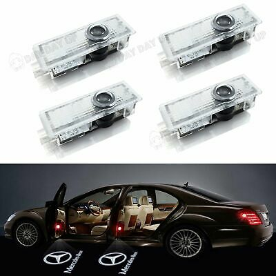 4X Mercedes Benz Car Door LED Projector Courtesy Light Puddle Ghost Laser LOGO