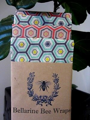 Bellarine Bee Wraps - Handmade ReusableReusable Bees wax Wrap - Large