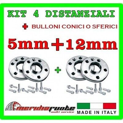 KIT 4 SPACERS BMW SERIES 1 M 135I E82 182 2007-2011 PROMEX ITALY 5mm + 12mm